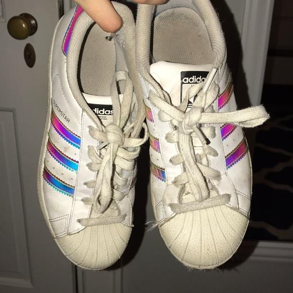 rainbow adidas shoes